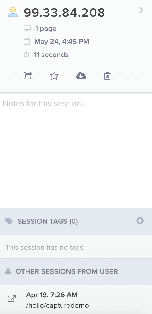 Write notes for your sessions.